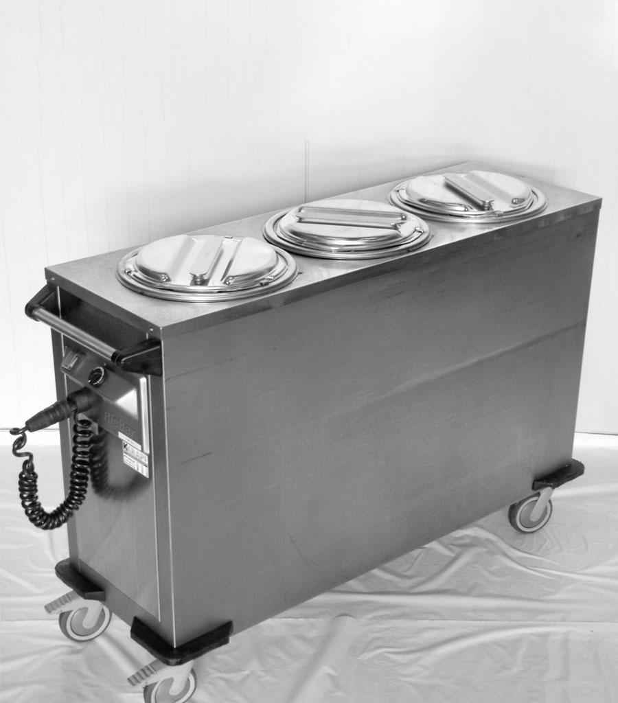 1430-Tellerwärmewagen Chromstahl 3er Produktbild