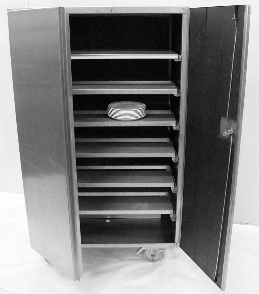 1441-Tellerwärmeschrank grau Produktbild