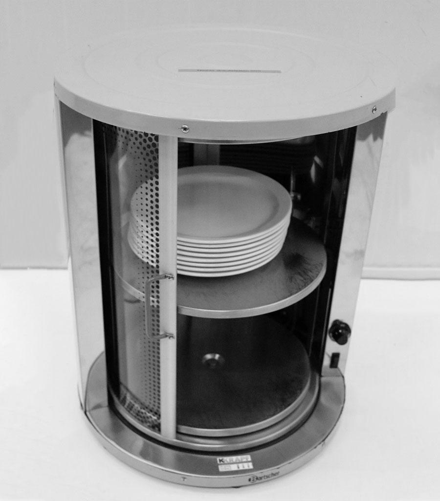 1410-Tisch-Tellerwärmer mit Glastüre Produktbild